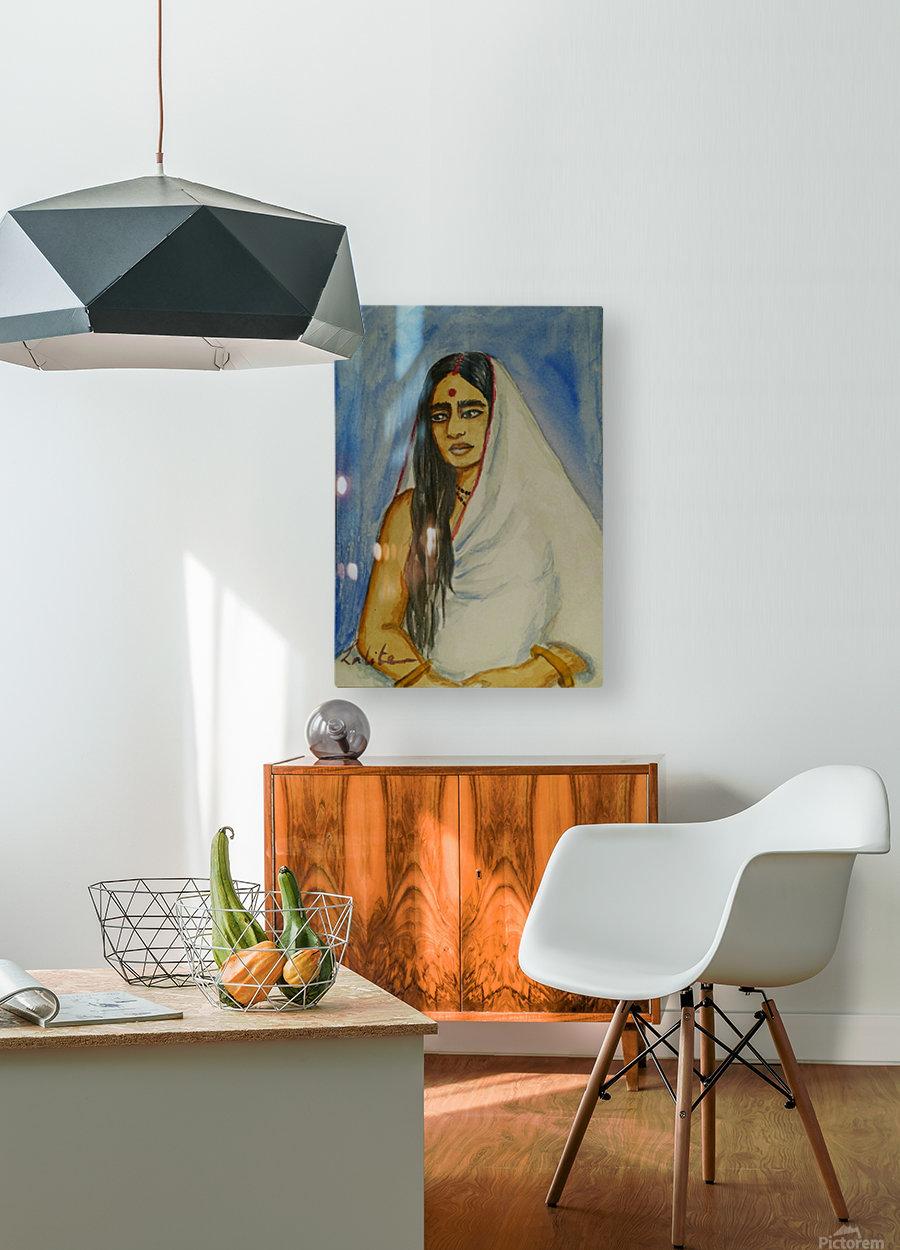 Sarada devi   HD Metal print with Floating Frame on Back