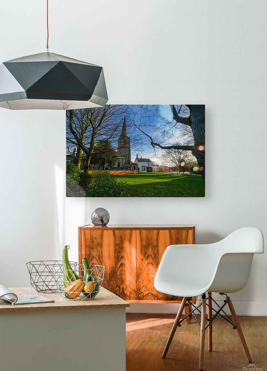 Church house  HD Metal print with Floating Frame on Back