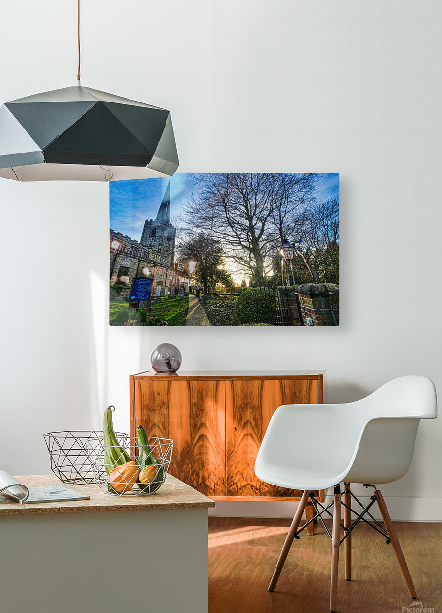 Churchyard  HD Metal print with Floating Frame on Back