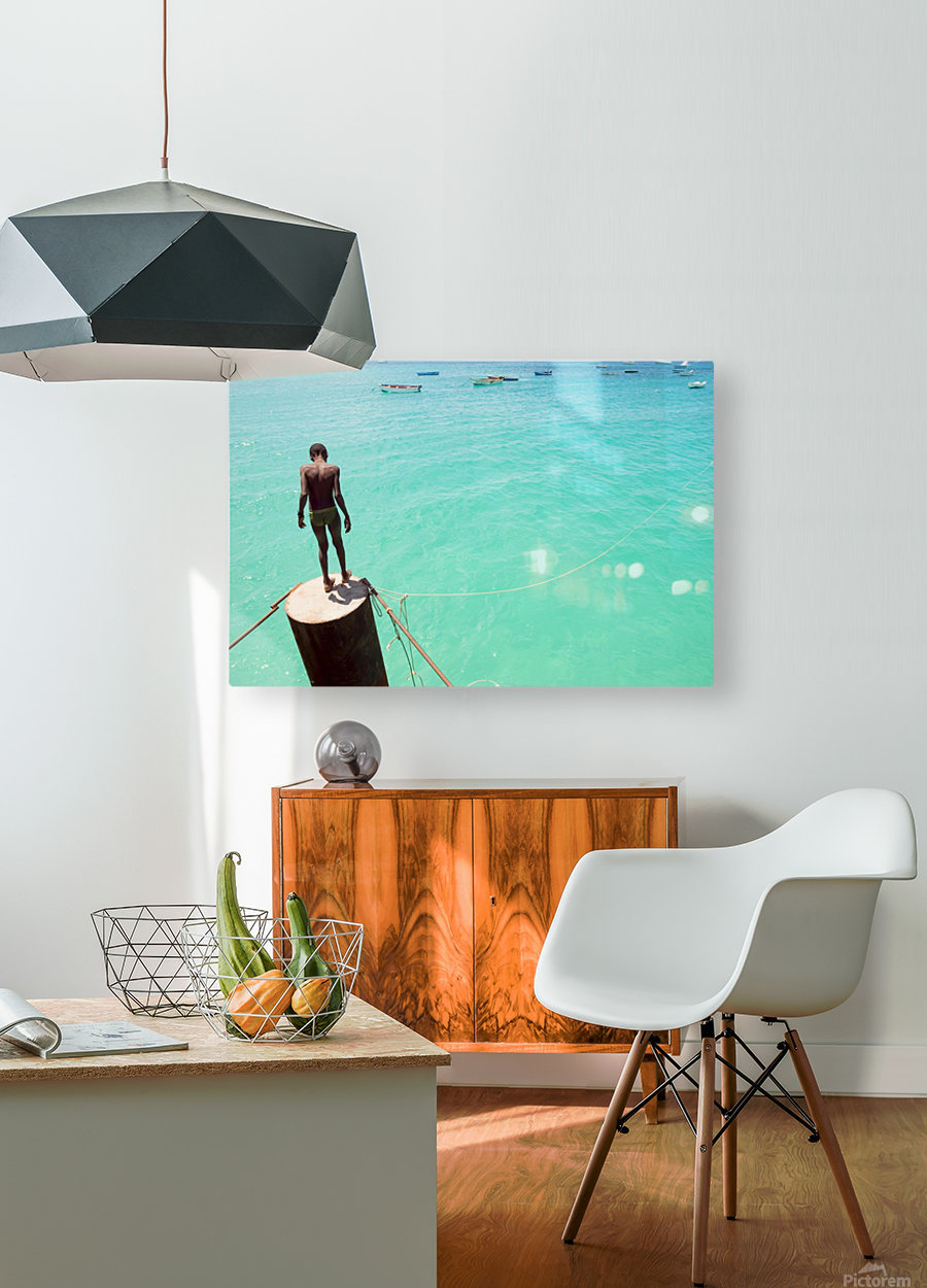 INTO THE BLUE 2.  HD Metal print with Floating Frame on Back