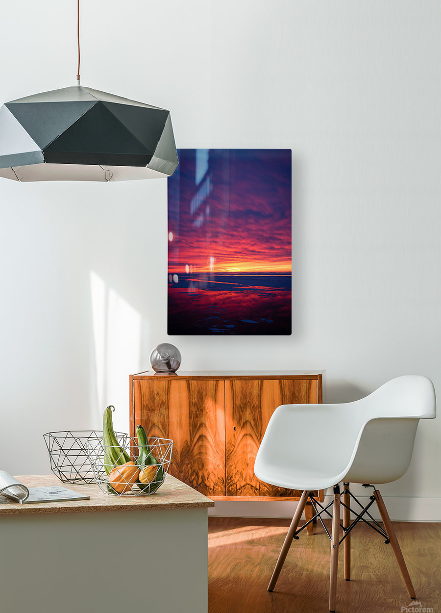 Rouge  HD Metal print with Floating Frame on Back