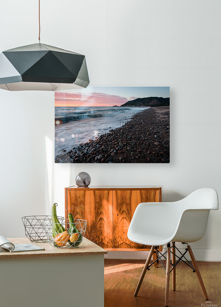 Rolling in  HD Metal print with Floating Frame on Back