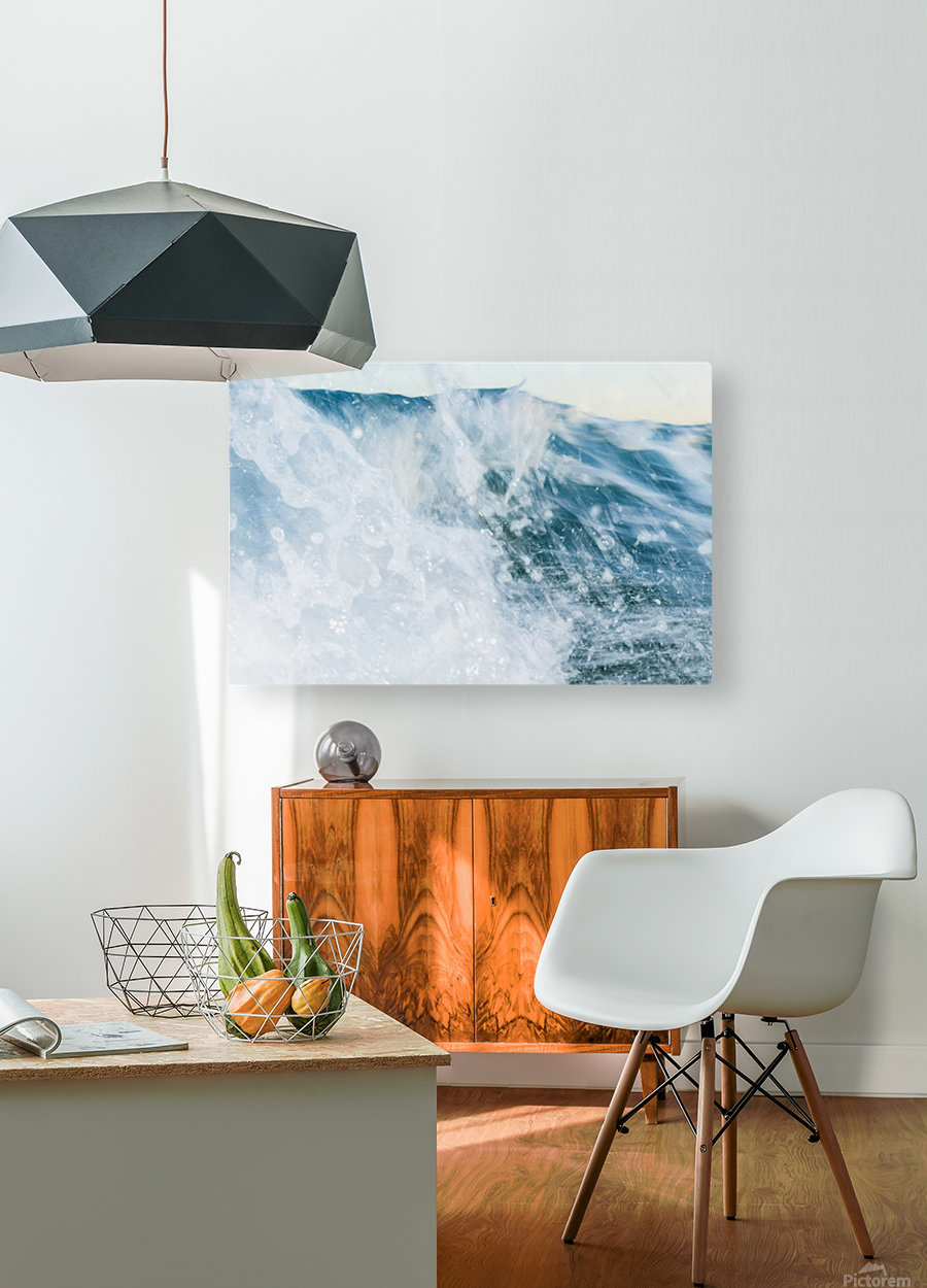 THE WAVE  HD Metal print with Floating Frame on Back