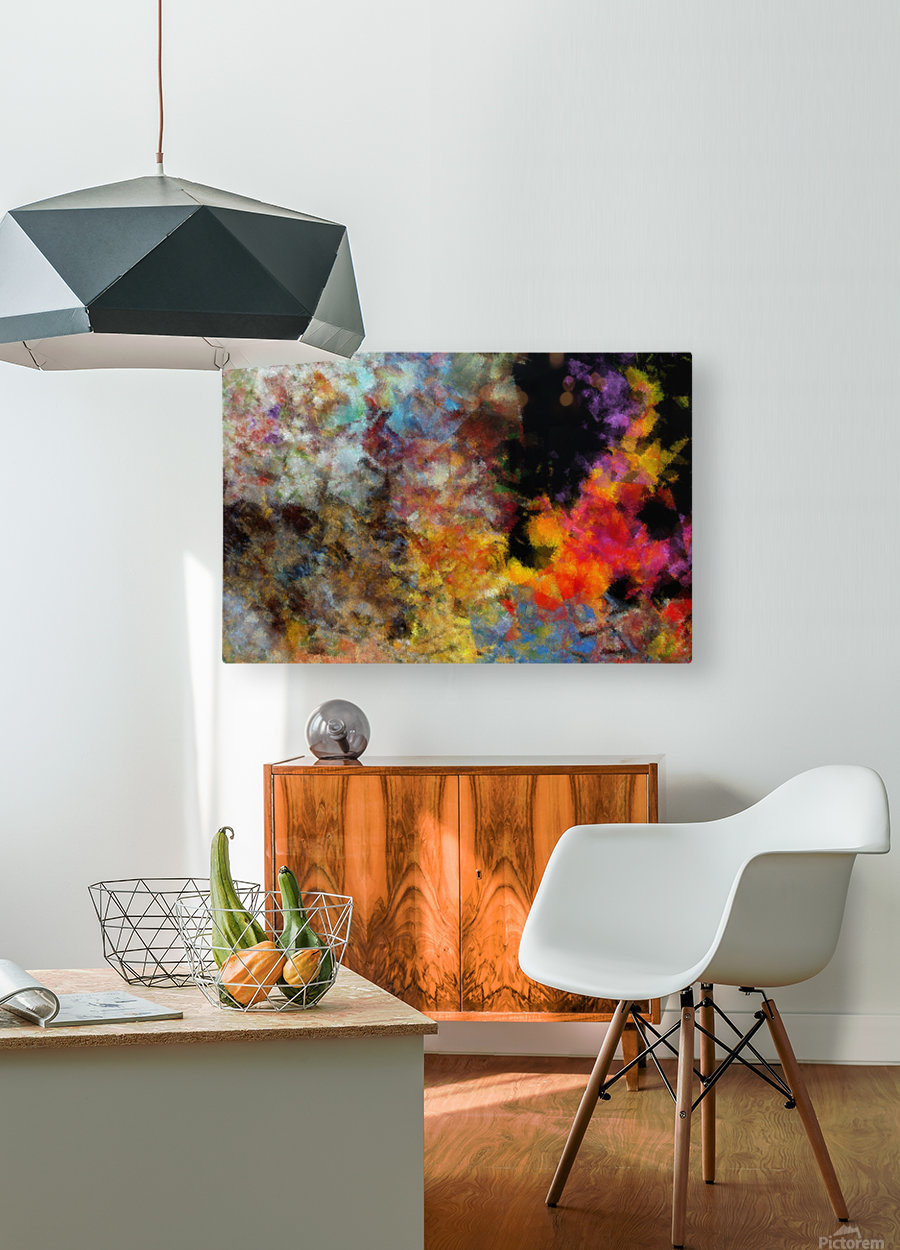 Flame  HD Metal print with Floating Frame on Back