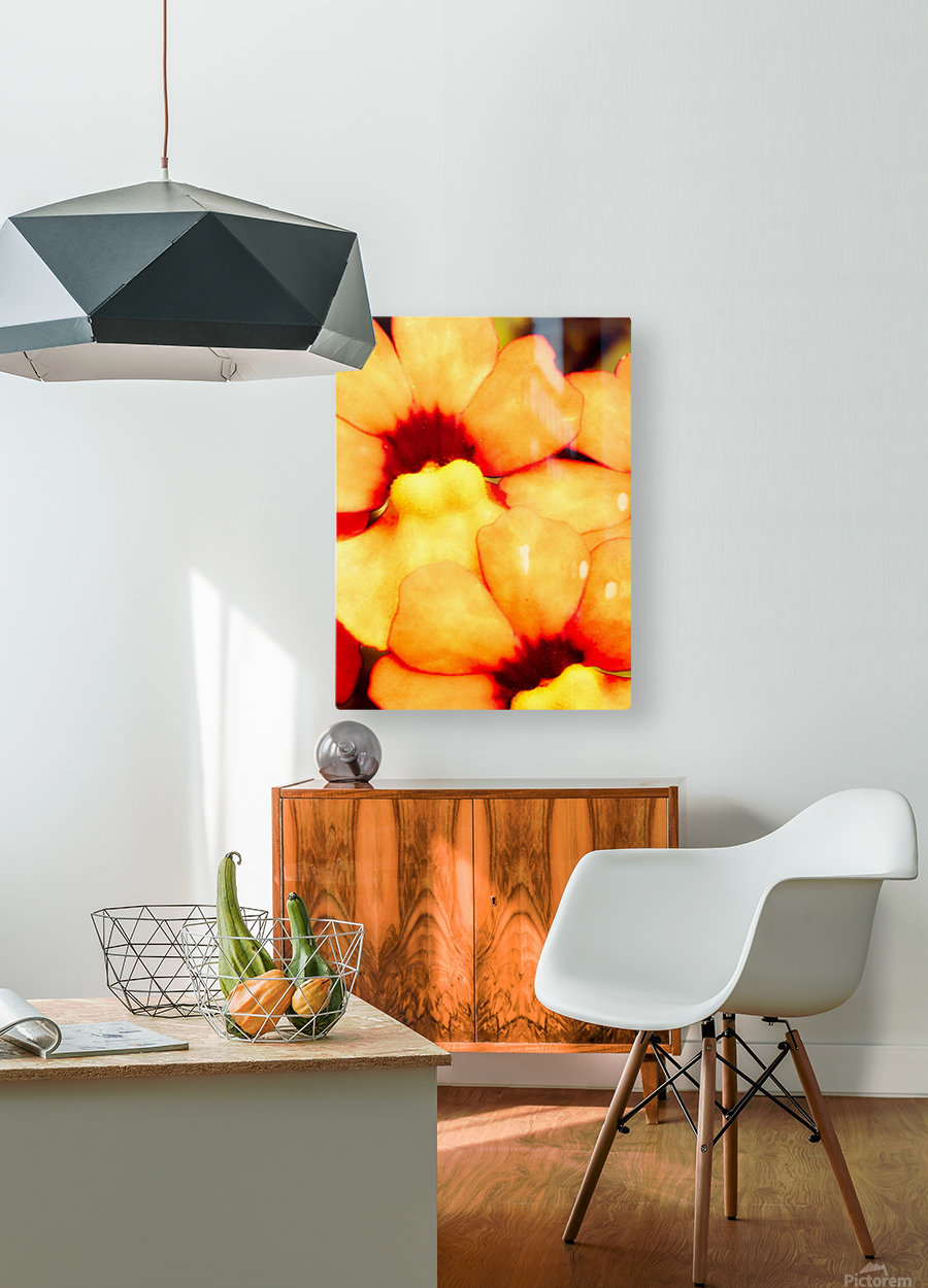 Yellow Mello  HD Metal print with Floating Frame on Back