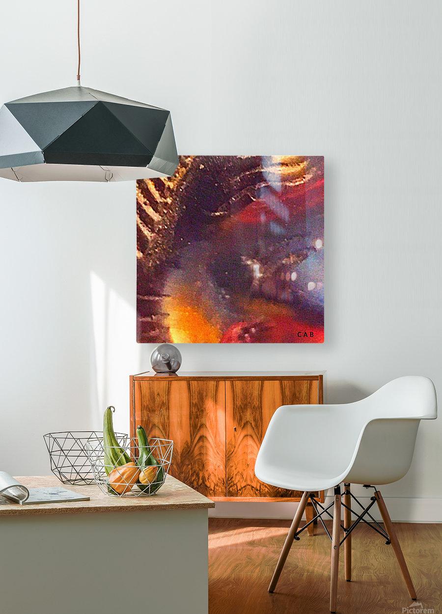 Space diving  Impression métal HD avec cadre flottant sur le dos