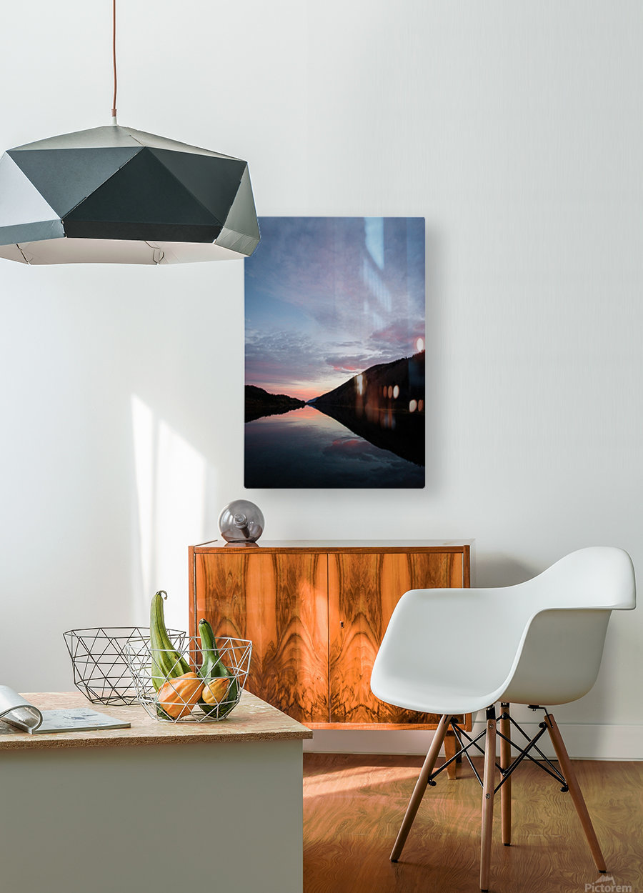 Blissful morning  HD Metal print with Floating Frame on Back