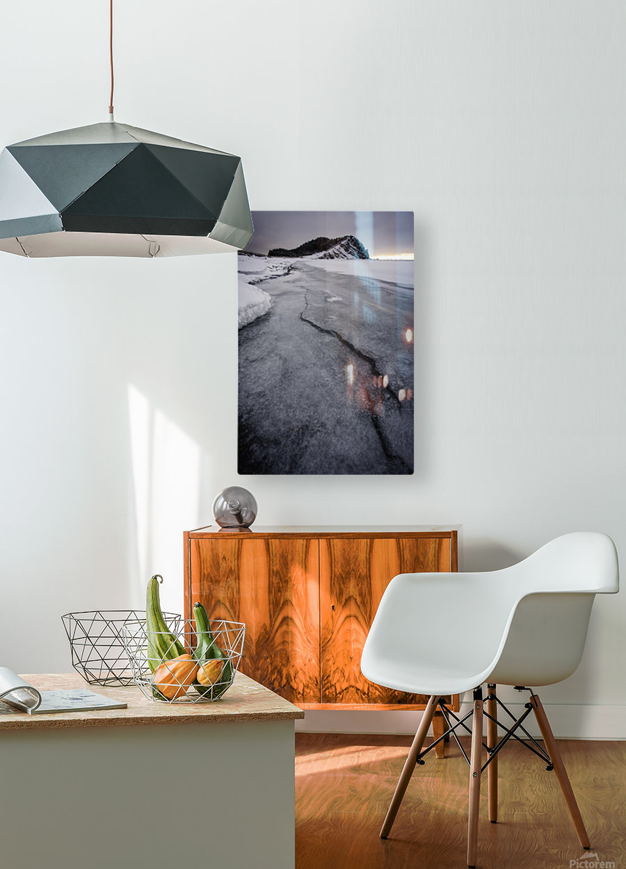 Cracked   HD Metal print with Floating Frame on Back