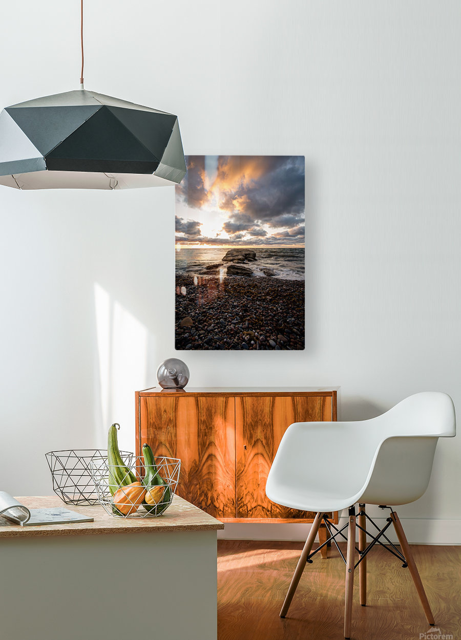 Chase the light  HD Metal print with Floating Frame on Back