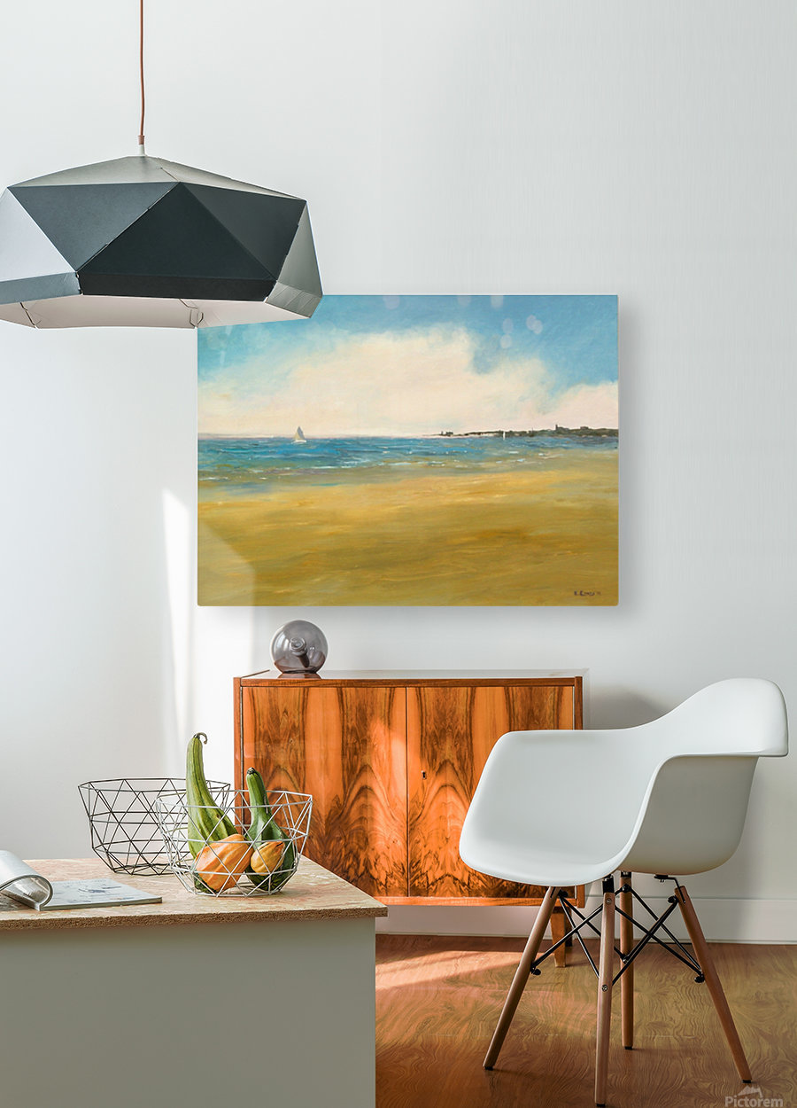 Morning Sail  HD Metal print with Floating Frame on Back