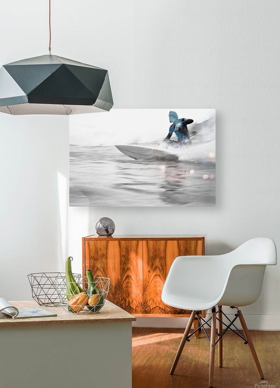 SURF STYLE  HD Metal print with Floating Frame on Back