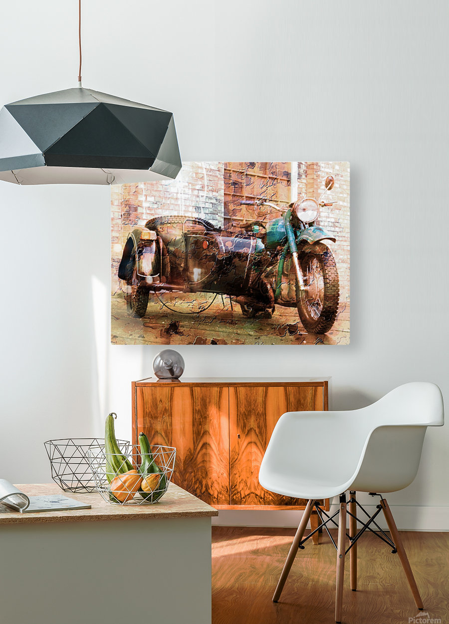 The Backroads of My Mind  HD Metal print with Floating Frame on Back