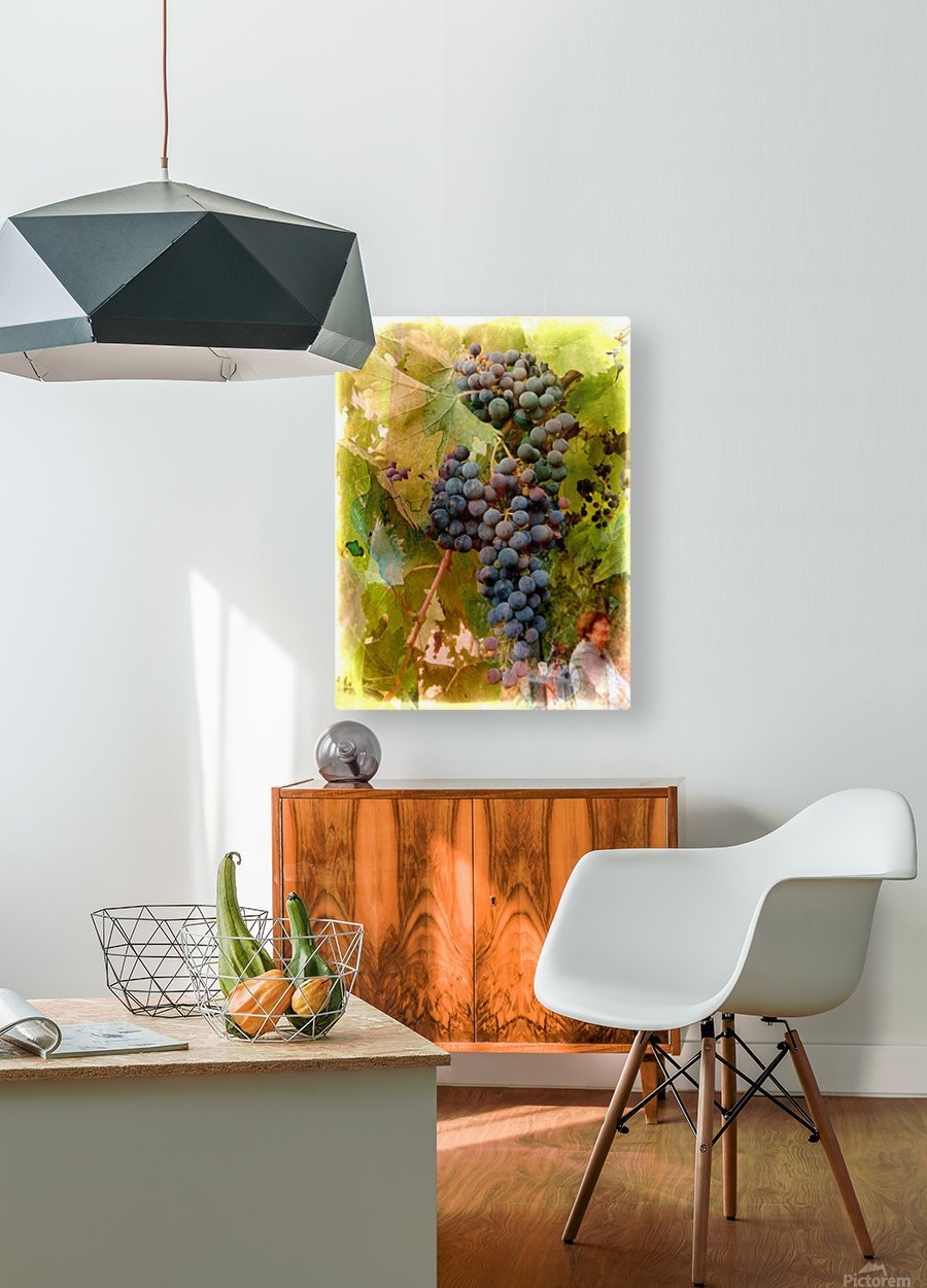 Waiting for Wine  HD Metal print with Floating Frame on Back