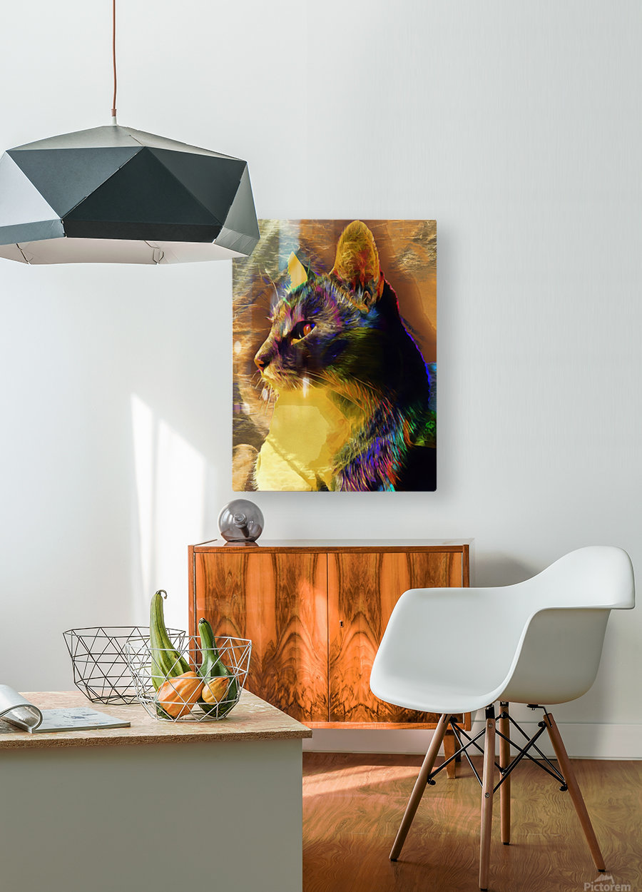Cat Spirit Guide  HD Metal print with Floating Frame on Back