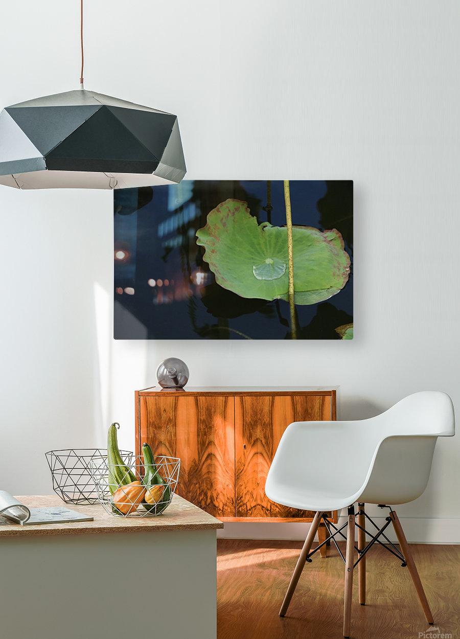 keep it green  HD Metal print with Floating Frame on Back