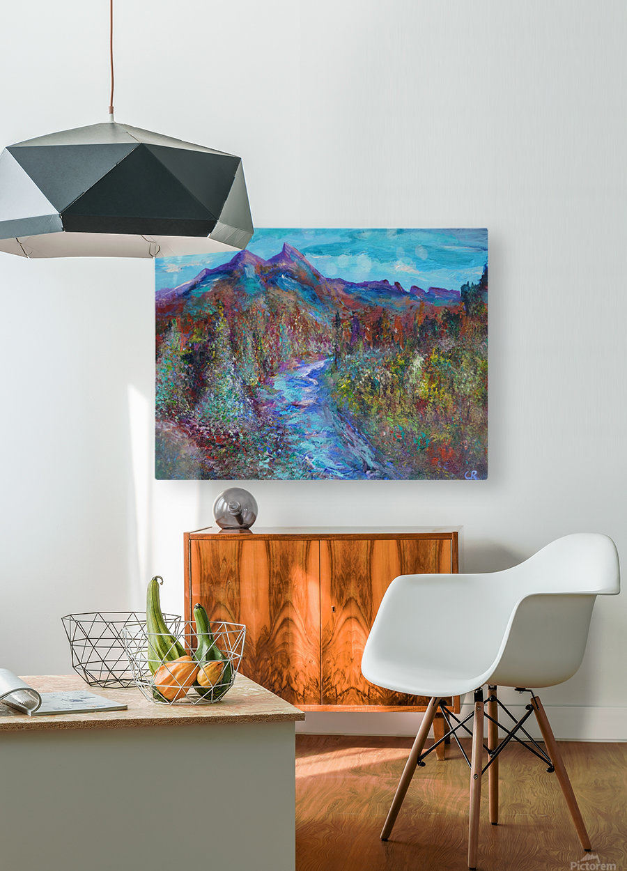 Maroon Bells and Maroon Creek Snowmass Wilderness Area  HD Metal print with Floating Frame on Back