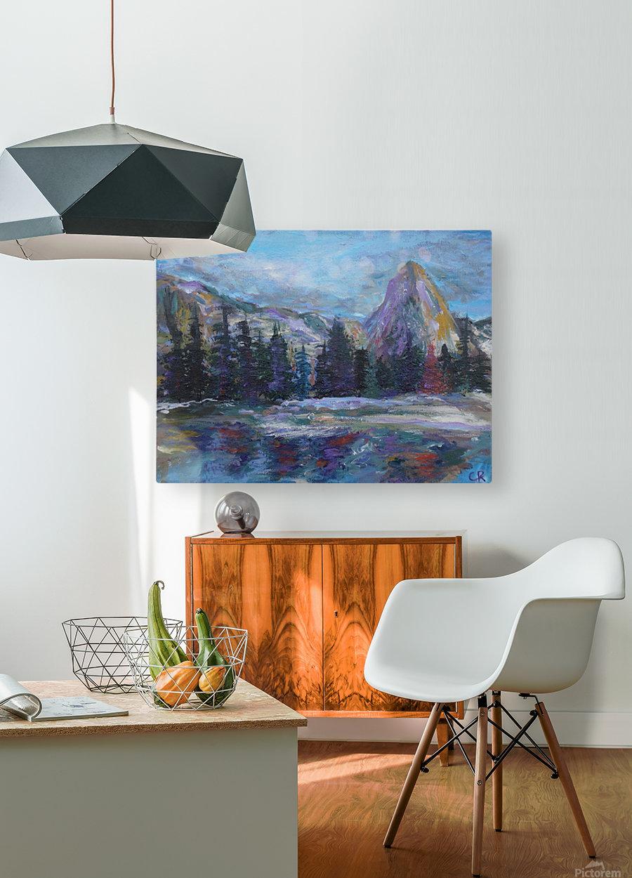Lone Eagle Peak reflected in Mirror Lake Indian Peaks Wilderness  HD Metal print with Floating Frame on Back