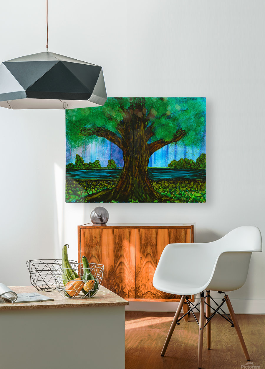 Tree   HD Metal print with Floating Frame on Back