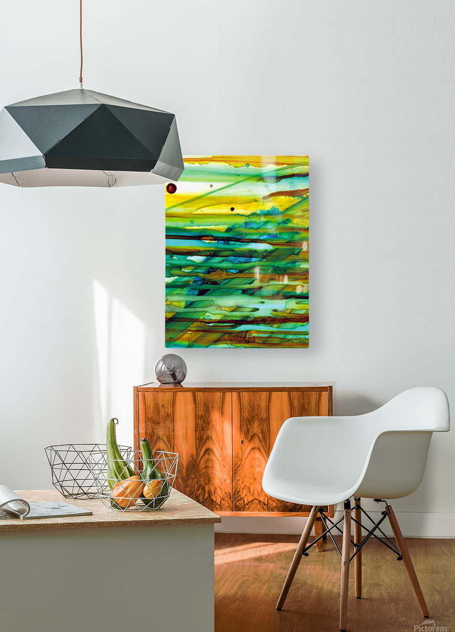 Hazy Rays  HD Metal print with Floating Frame on Back