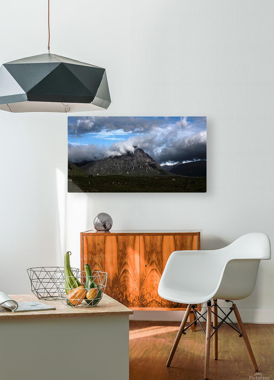 Glen Etive   Impression métal HD avec cadre flottant sur le dos
