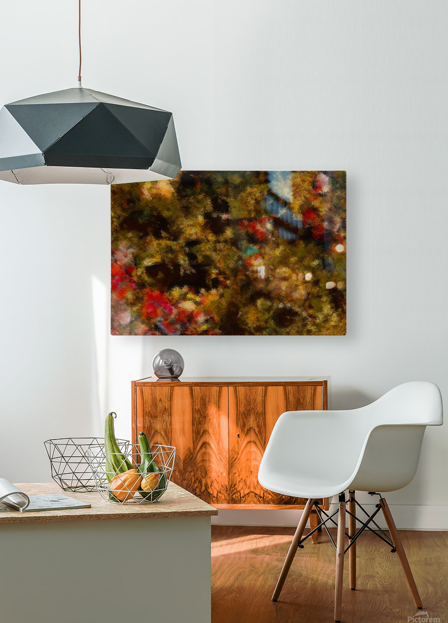 Forest by Night I  HD Metal print with Floating Frame on Back