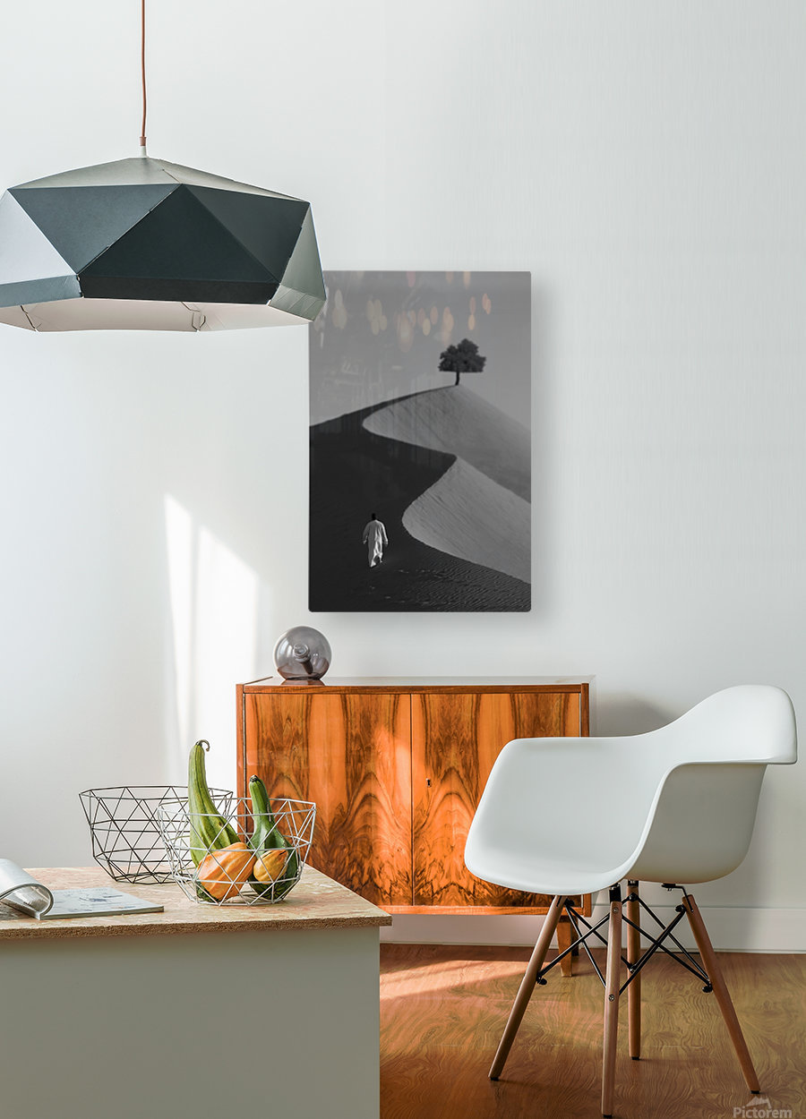 The Omani Desert  HD Metal print with Floating Frame on Back