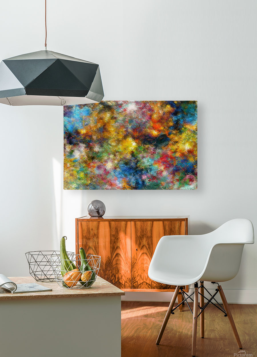 Clouds and Lights  HD Metal print with Floating Frame on Back