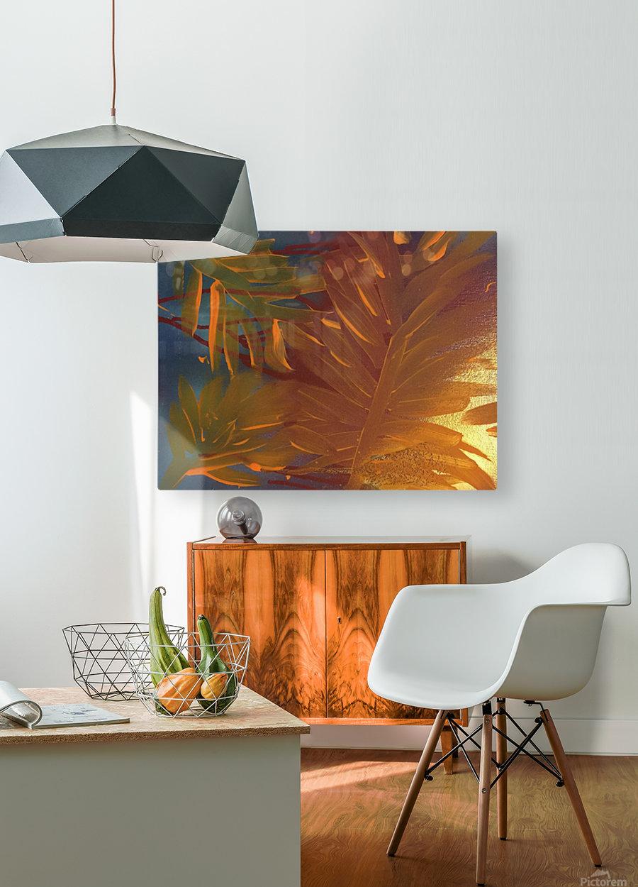THE LEAF OF LIGHT  HD Metal print with Floating Frame on Back