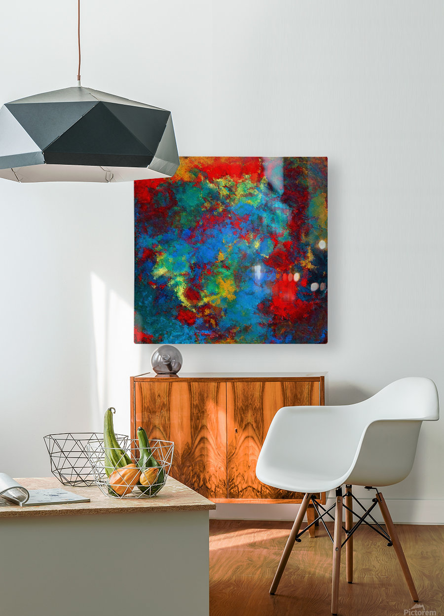A Storm of Blood and Blue  HD Metal print with Floating Frame on Back