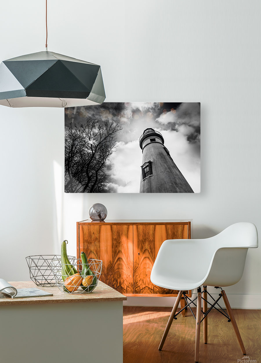 Marblehead Lighthouse 2  HD Metal print with Floating Frame on Back