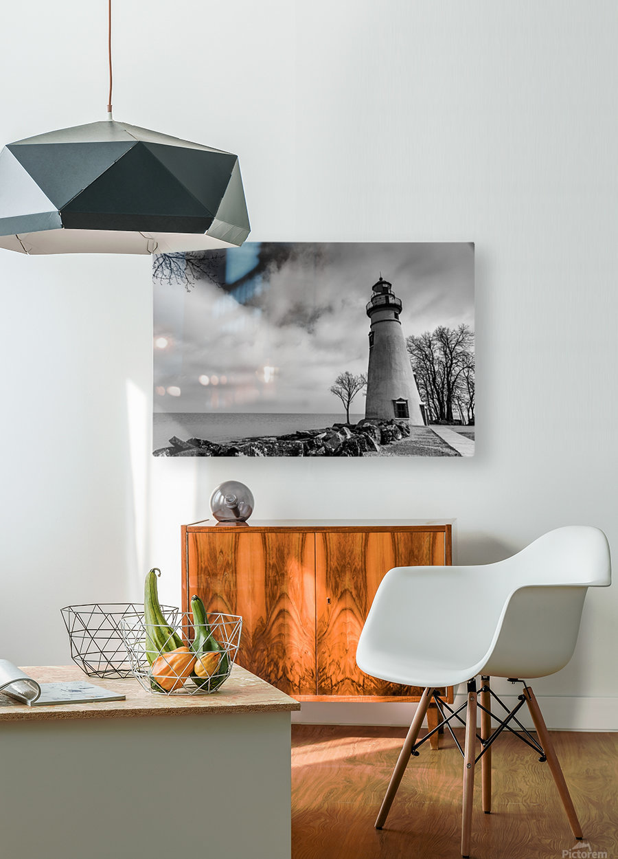 Marblehead Lighthouse 1  HD Metal print with Floating Frame on Back