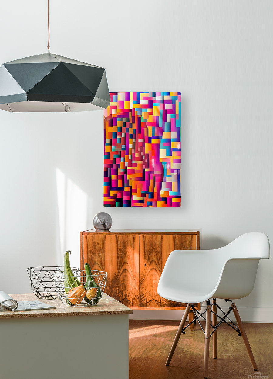 Geometric Abstract Painting  HD Metal print with Floating Frame on Back