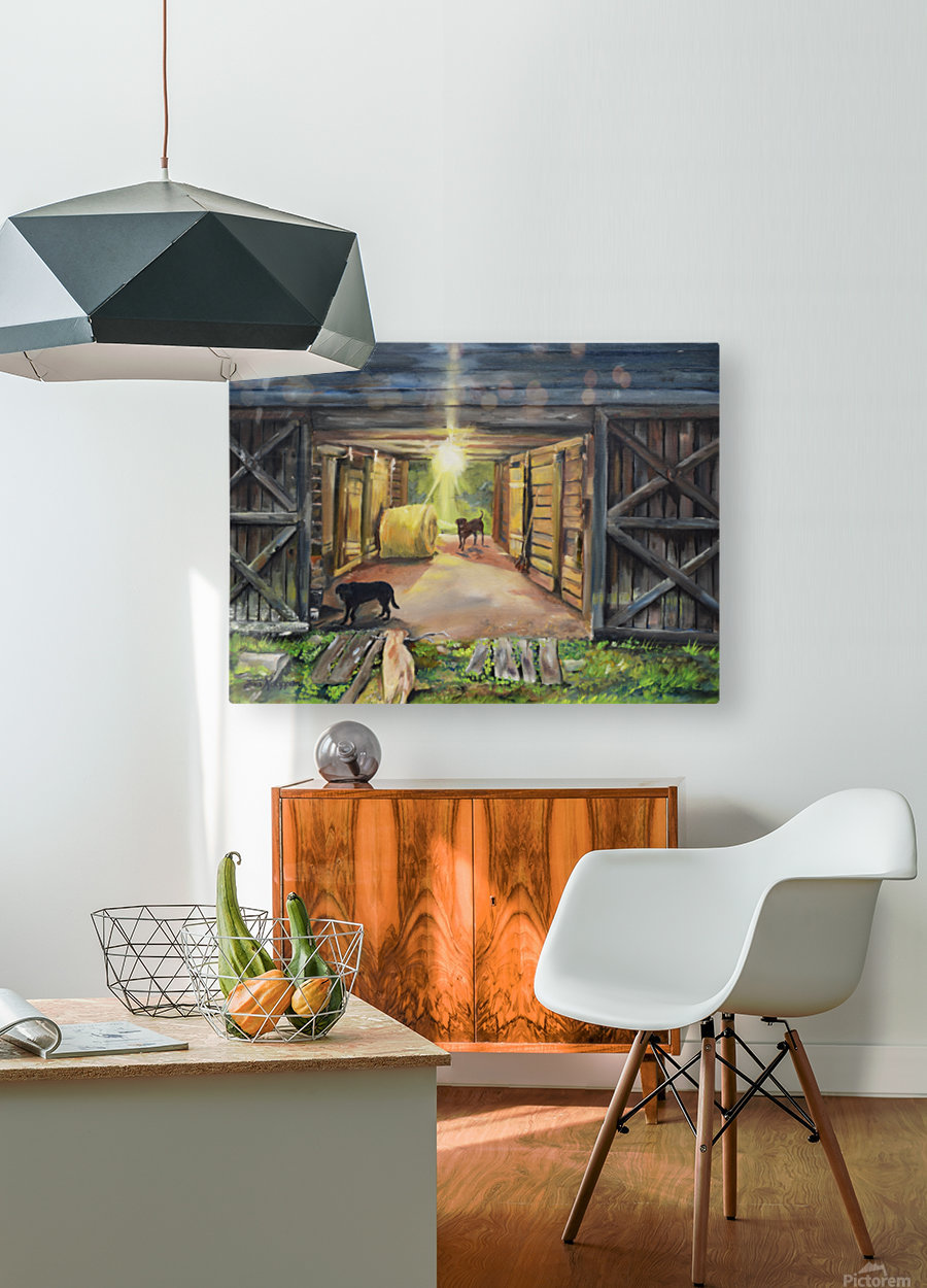 After Hours in Pas Barn LS  HD Metal print with Floating Frame on Back