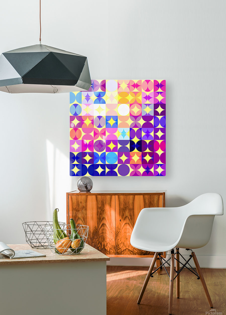 Geometric XXXVI  HD Metal print with Floating Frame on Back