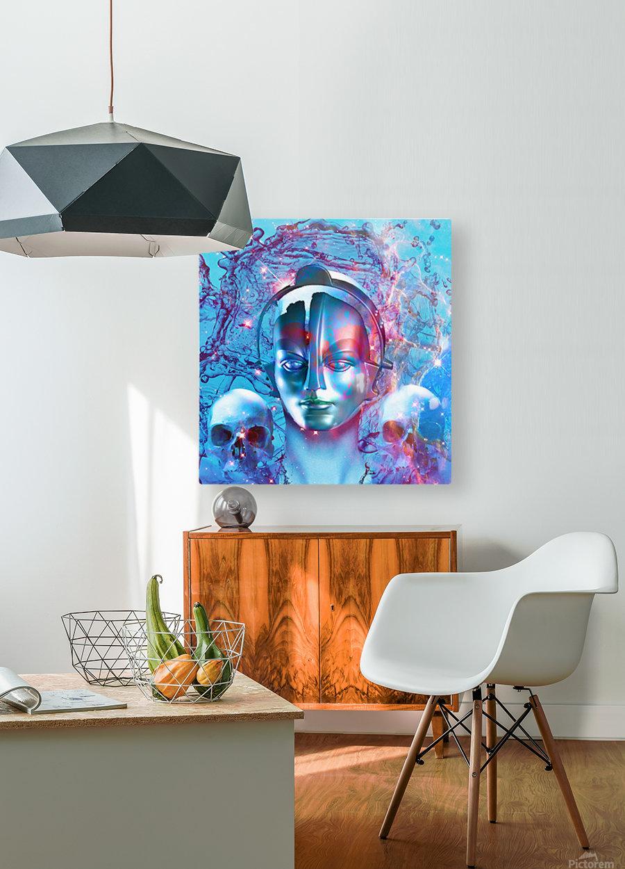 Robot Transcendence  HD Metal print with Floating Frame on Back