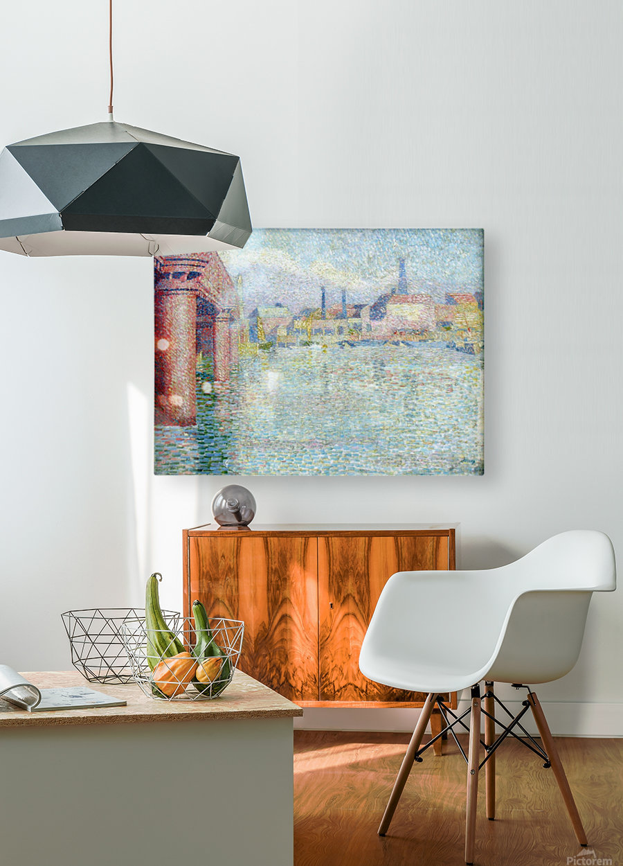 Toorop Brug in Londen anagoria  HD Metal print with Floating Frame on Back