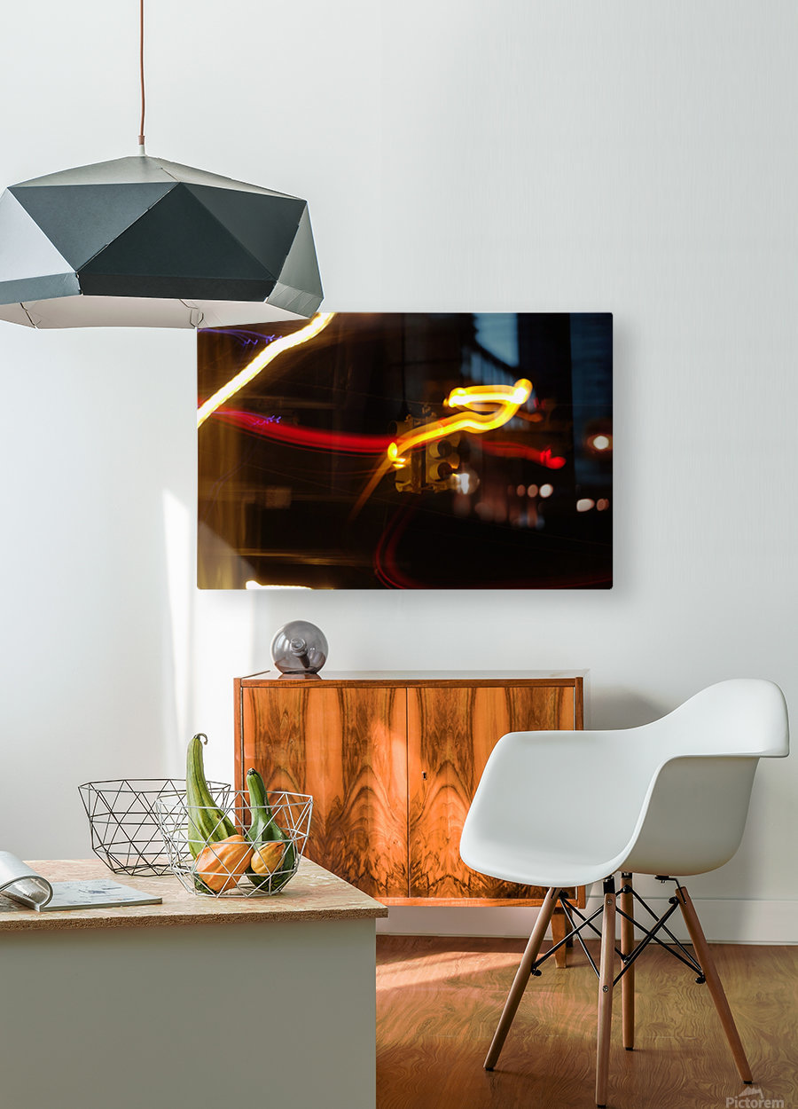 Speeding Stop  HD Metal print with Floating Frame on Back