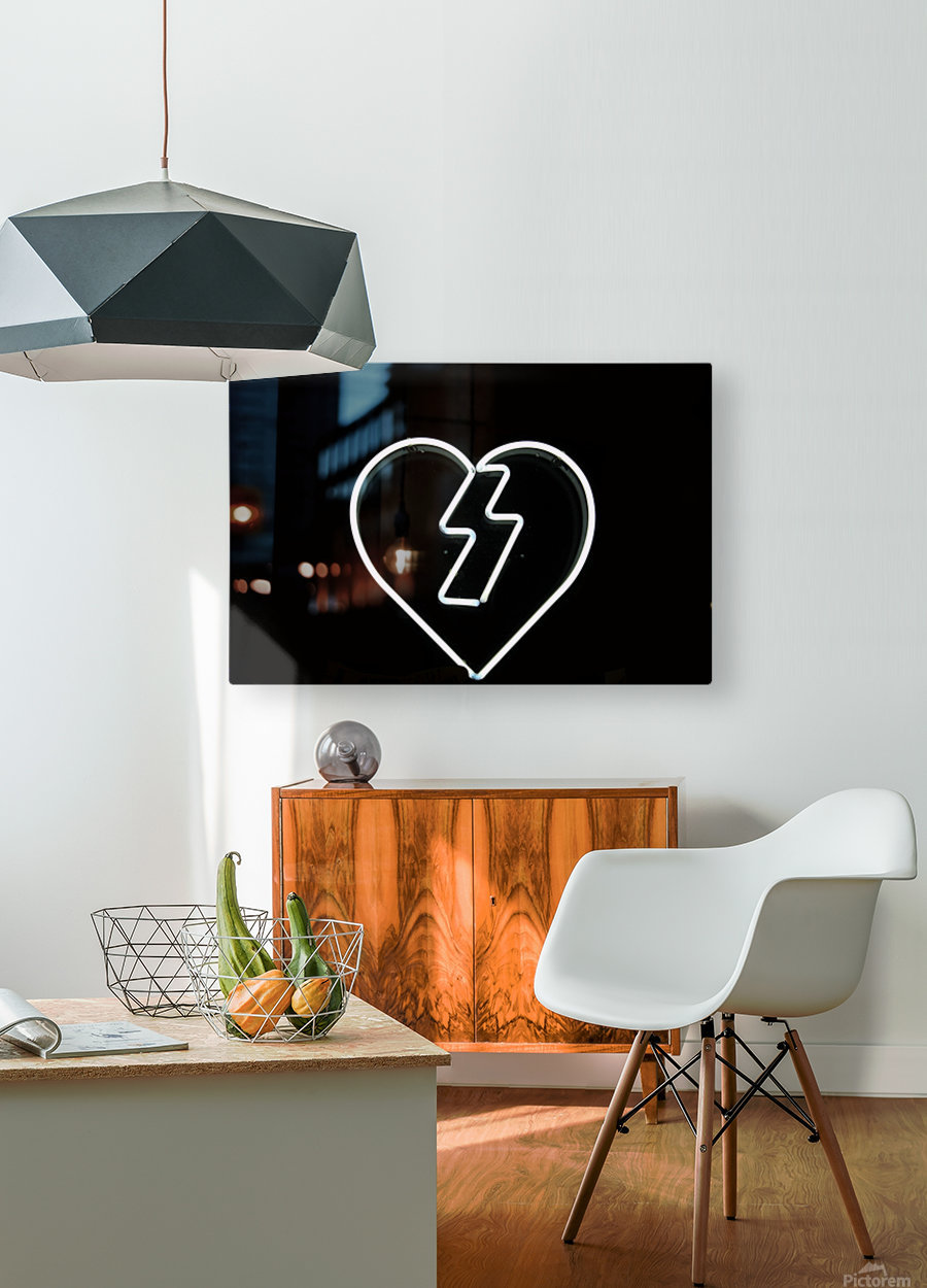 Flash Love  HD Metal print with Floating Frame on Back