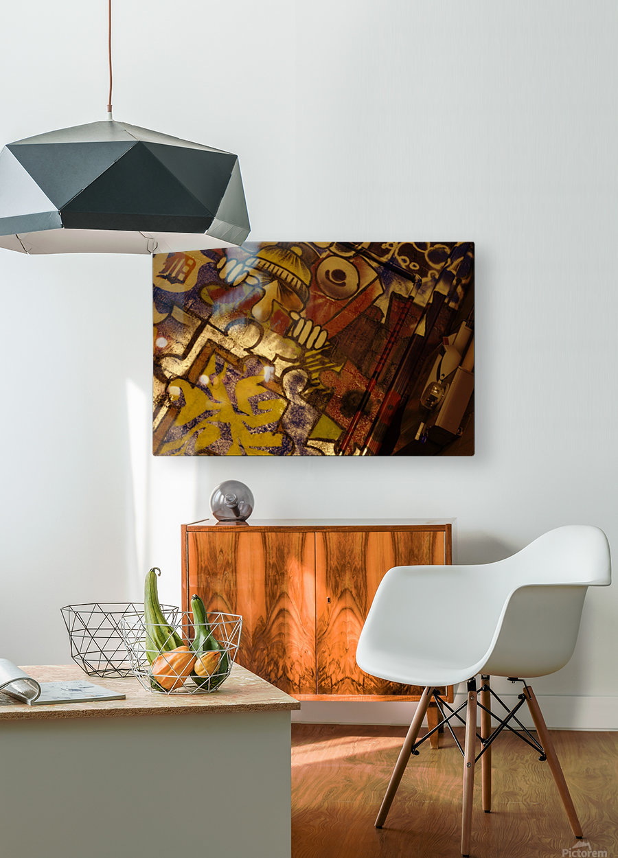 Local Graffiti  HD Metal print with Floating Frame on Back
