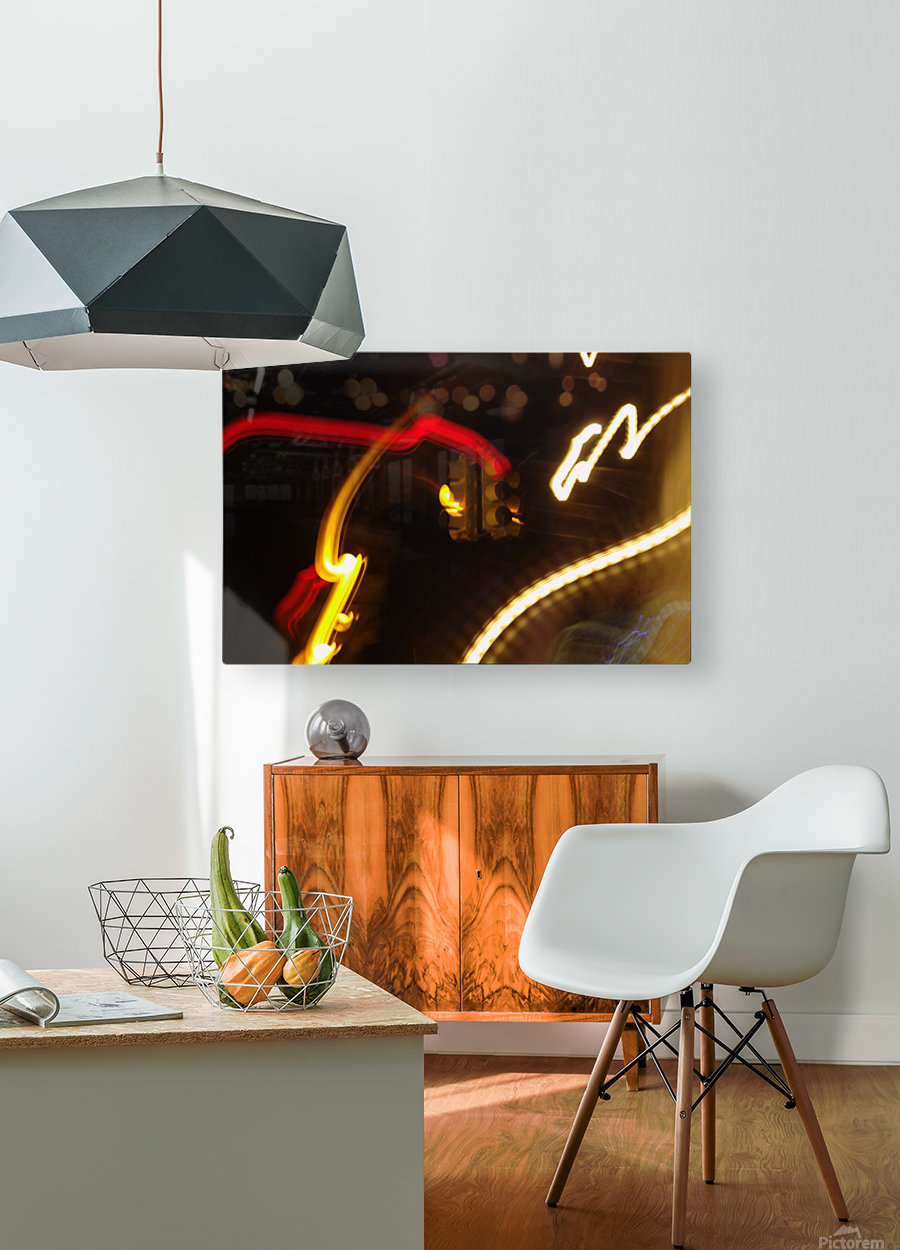 Speeding Stop 2  HD Metal print with Floating Frame on Back