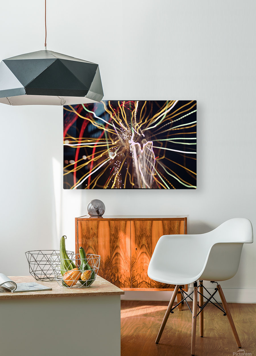 Streamers  HD Metal print with Floating Frame on Back