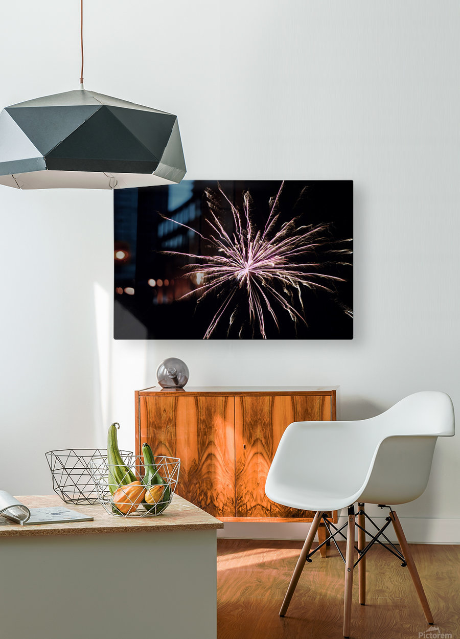 Explosion  HD Metal print with Floating Frame on Back