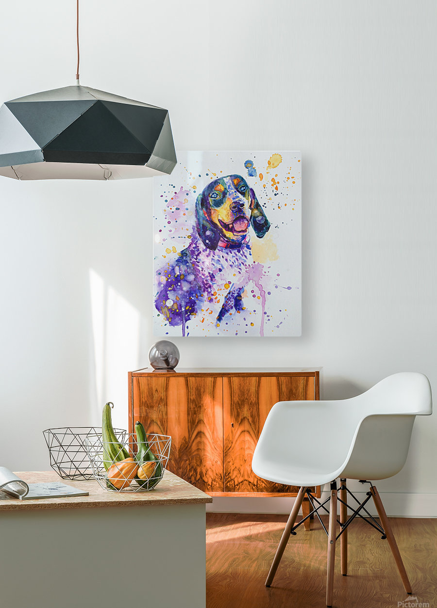 Beagle Dog - Lily Belle  HD Metal print with Floating Frame on Back