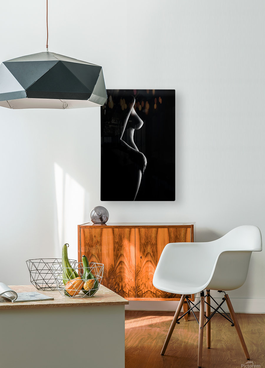 Nude woman bodyscape 20  HD Metal print with Floating Frame on Back