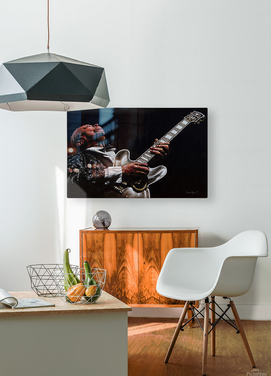 BB King  HD Metal print with Floating Frame on Back