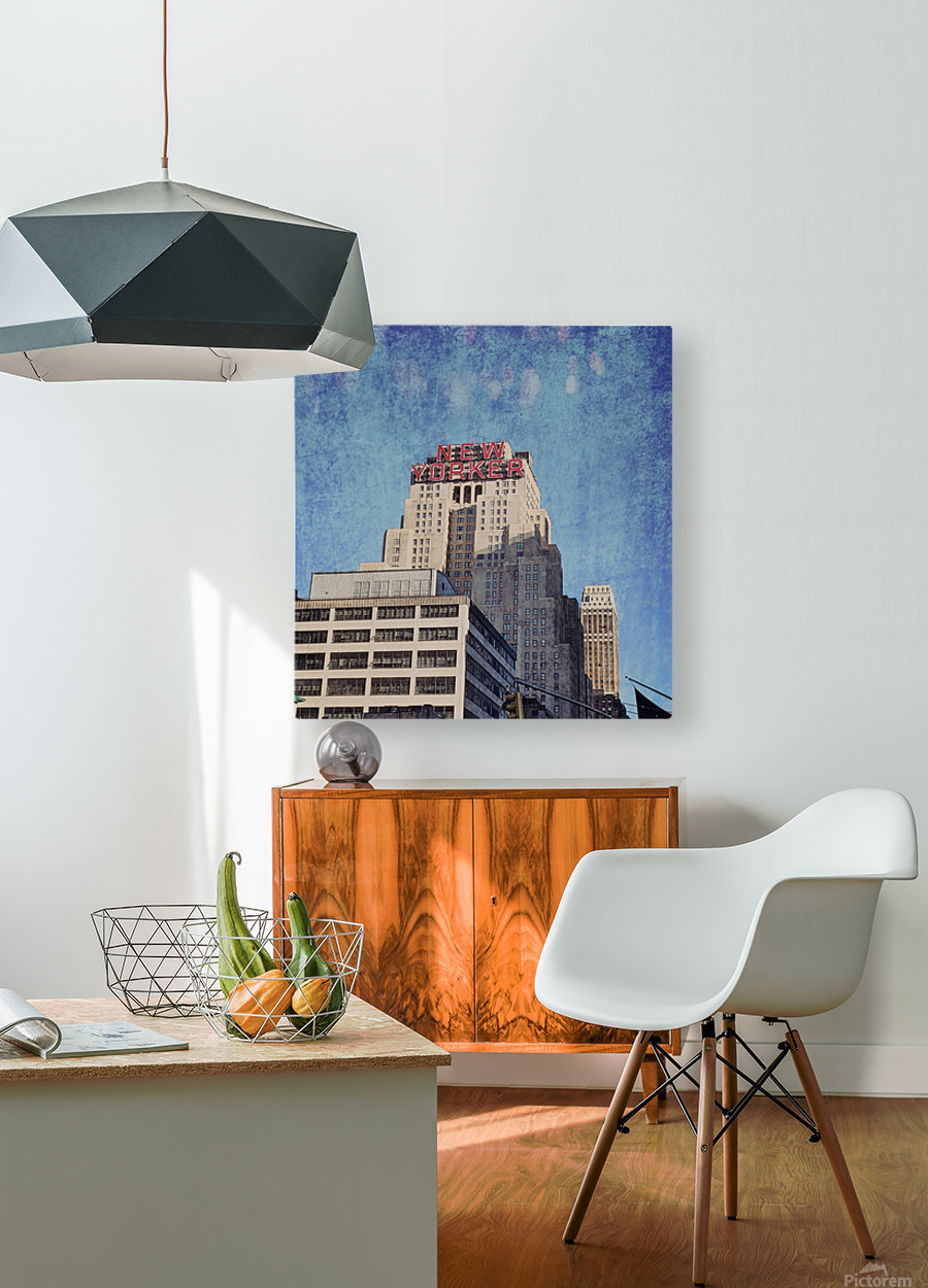 new york med  HD Metal print with Floating Frame on Back