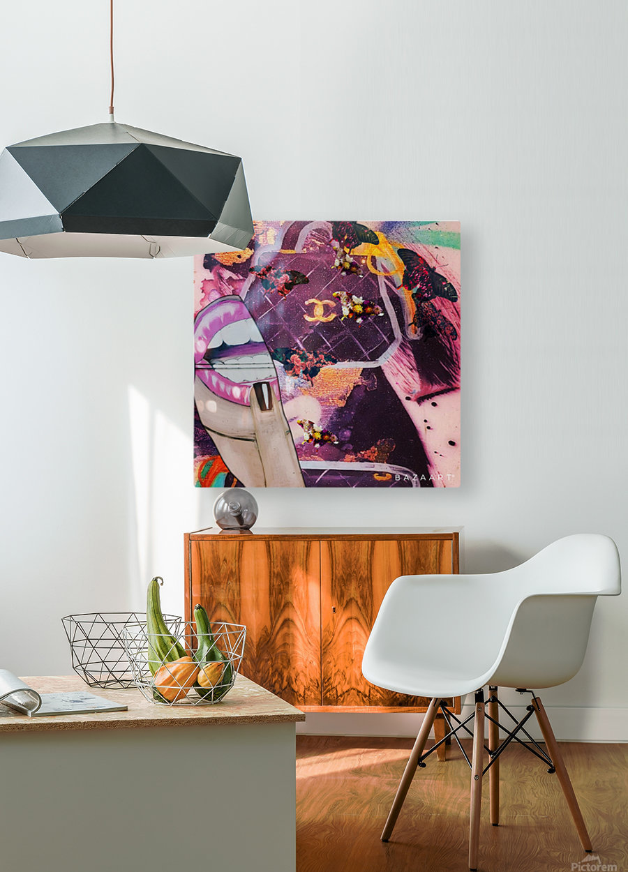 wetgwg  HD Metal print with Floating Frame on Back