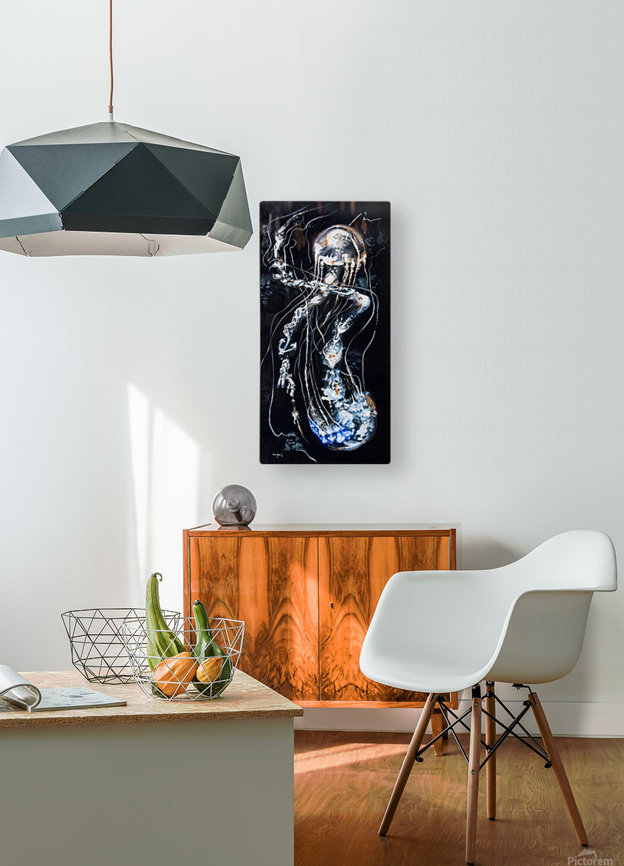 jellyfish Apparition   HD Metal print with Floating Frame on Back