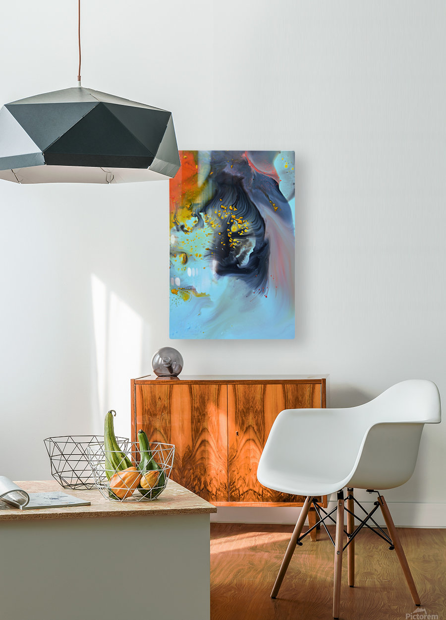 Liquid series 09  HD Metal print with Floating Frame on Back