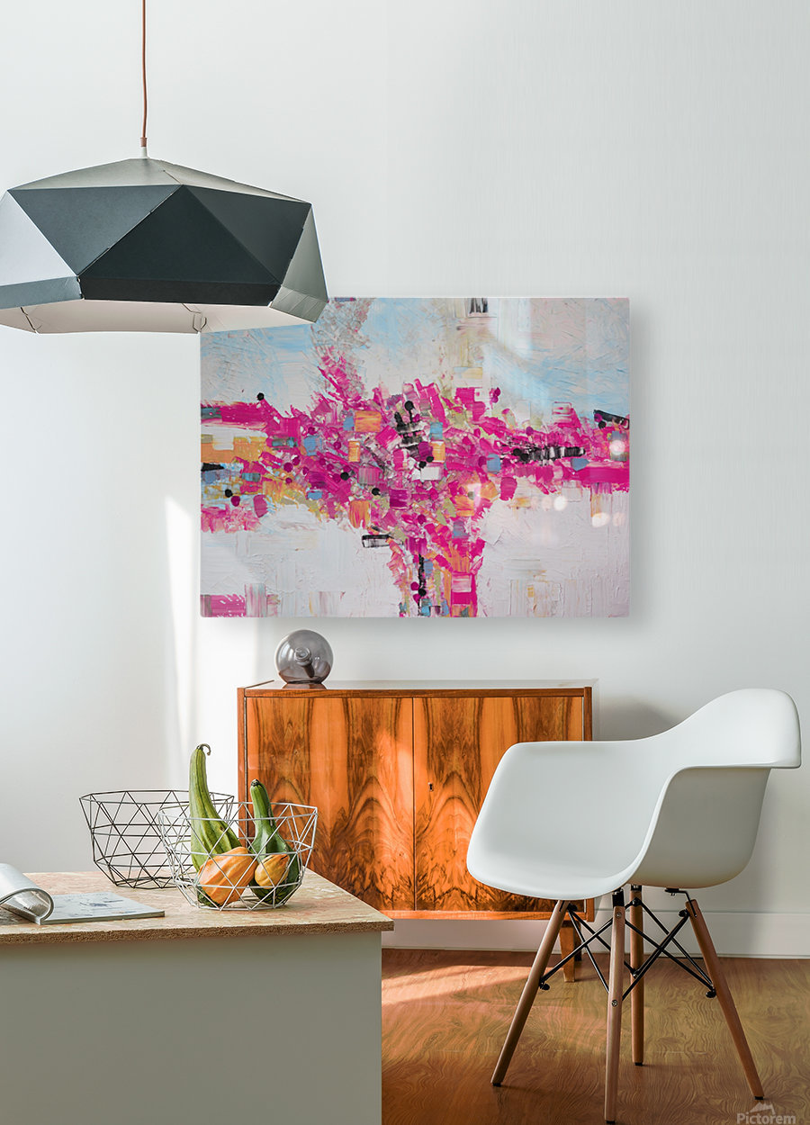 Abstract 02  HD Metal print with Floating Frame on Back